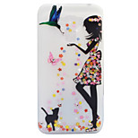 For Asus Zenfone 3 ZE520KL ZE552KL Case Cover Girls And Cats Pattern Painted Point Drill Scrub TPU Material Luminous Phone Case