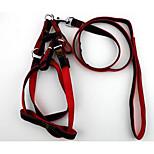 Dog Leash Adjustable/Retractable Solid Red Black Blue Nylon