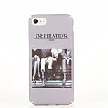 For Pattern Case Back Cover Case Word / Phrase Hard PC for Apple iPhone 7 Plus iPhone 7 iPhone 6s Plus iPhone 6 Plus iPhone 6s iPhone 6