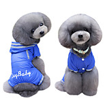 Dog Coat Hoodie Clothes/Jumpsuit Rain Coat Dog Clothes Winter Summer Spring/Fall British Cute Fashion