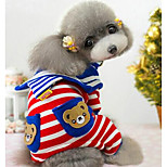 Dog Coat Multicolor Dog Clothes Winter Stars Cute Casual/Daily