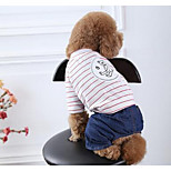 Dog Coat Dog Clothes Summer Cartoon Cute Casual/Daily Black Blushing Pink