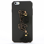 For DIY Case Back Cover Case Baby Pattern Tassels Hard PC for Apple iPhone 7 Plus iPhone 7 iPhone 6s Plus iPhone 6 Plus iPhone 6s iPhone 6