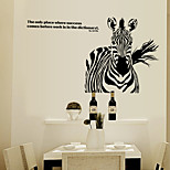 The Zebra Black Fashion Adornment Bedroom Living Room Study Can RemovT the Wall Stickers 138*77CM