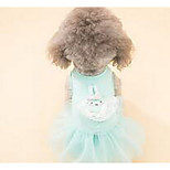 Dog Dress Dog Clothes Summer Princess Cute Casual/Daily Gray Blushing Pink Light Green