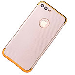 For IPhone 7 Plus 7 Cover Case Plating Back Cover Case Solid Color Hard Carbon Fiber  6s Plus 6 Plus 6s 6 5s