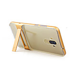 For Huawei Mate 9 P8 Lite (2017) Case Cover with Stand Transparent Back Cover Solid Color Hard Silicone Honor 6X Mate 9 Pro Mate 8 Enjoy 6 Nova