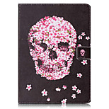 For Card Holder Wallet with Stand Flip Pattern Case Full Body Case Skull Hard PU Leather for AppleiPad Pro 9.7'' iPad Air 2 iPad Air iPad 4/3/2