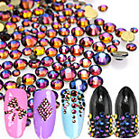 500pcs/bag New Fashion Mixed Colorful Decoration Glitter Rhinestone Beautiful Blue Flame Sparkling Rhinestone Nail Art DIY Beauty Shining Decoration