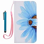 For Case Cover Card Holder Wallet with Stand Flip Pattern Full Body Case With Stylus Flower Hard PU Leather for AppleiPhone 7 Plus 7 6s Plus 6s 5s se