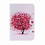 For Card Holder Wallet with Stand Auto Sleep/Wake Flip Pattern Case Full Body Case Tree Hard PU Leather for Apple iPad Mini 4 Mini 3/2/1