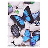 Para Cartera Soporte de Coche con Soporte Flip Diseños Funda Cuerpo Entero Funda Mariposa Dura Cuero Sintético para AppleiPad Pro 9.7 ''