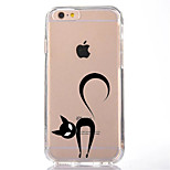 For Transparent Pattern Case Back Cover Case Lovely Cat Soft TPU for IPhone 7 7 Plus iPhone 6s 6 Plus iPhone 6s 6 iPhone 5s 5 5E 5C 4 4s