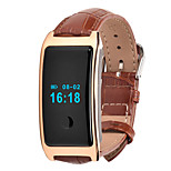 Z8 Heart Rate Monitor Smart Bracelet PU Watchband for Android 4.3 IOS 8.0 Waterproof Bracelet - Brown
