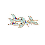 Fashion Cute Wild Goose  Enamel Brooch