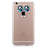 For IPhone 7 Case Back Cover Case TPU Big Eyes Playing with Apple Logo Pattern for iPhone 7/ 7 Plus 6s/ 6 /6s Plus / 6 Plus/ SE / 5s / 5 /5C/ 4/4s