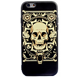 For Apple iPhone 7 7 Plus 6s 6 Plus Case Cover Golden Skeleton Pattern Thicker TPU Material Scrub Soft Case Phone Case