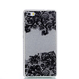 For Huawei P9Lite P9 P8Lite Double IMD Case Back Cover Case Black Bottom Flower Pattern Soft TPU