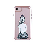 For Apple iPhone 7 7 Plus 6S 6 Plus Case Cover Sexy Beauty Pattern Painted TPU Material Plating PC Frame Combo Phone Case