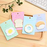 1 PCS Breakfast Food Cute Self-Stick Notes