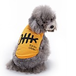 Cat Dog Vest Dog Clothes Summer Animal Cute Fashion Casual/Daily Fish Bone Yellow White Blue Pet Clothing