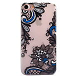 For Apple iPhone 7 7 Plus 6S 6 Plus SE 5S 5 Case Cover Diagonal Flower Pattern Painted Point Drill Scrub TPU Material Luminous Phone Case