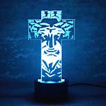 jul gud kontakt dimming 3D LED nattlys 7colorful dekorasjon atmosfære lampe nyhet belysning jule lys