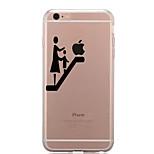 Für Transparent Muster Hülle Rückseitenabdeckung Hülle Spaß mit dem Apple Logo Weich TPU für AppleiPhone 7 plus iPhone 7 iPhone 6s Plus