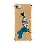 For Transparent Pattern Case Back Cover Case Blue Sexy Lady Soft TPU for IPhone 7 7 Plus iPhone 6s 6 Plus iPhone 6s 6 iPhone 5s 5 5E 5C 4 4s