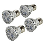 YouOKLight 4PCS E26/E27 3W 250LM AC85-265V 3*COB LED Warm White 3000K Light Spotlight - Silver