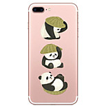 For Apple iPhone 7 7 Plus 6s 6 Plus Case Cover Lovely Panda Pattern Painted High Penetration TPU Material Soft Case Phone Case