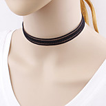 Women's Choker Necklaces Jewelry Lace Line Unique Design Simple Style Black JewelryWedding Party Special Occasion Halloween Birthday