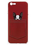 Per Fantasia/disegno Custodia Custodia posteriore Custodia Con cagnolino Morbido TPU per AppleiPhone 7 Plus iPhone 7 iPhone 6s Plus