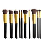 New 10 Black And Gold Face Eye Lip Makeup Brush Sets Shading Brush Brush Highlights Beginners Essential Professional Makeup Brush Bag Mail