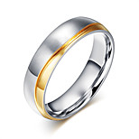 Ring Circular Steel Circle Silver Jewelry For Daily 1pc