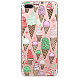 For Apple iPhone 7 7 Plus 6S 6 Plus Case Cover Ice Cream Pattern Painted High Penetration TPU Material Soft Case Phone Case