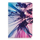 For Apple iPad Mini 4 3 2 1 Case Cover Silk Pattern Painted Card Stent Wallet PU Skin Material Flat Protective Shell