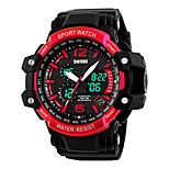 SKMEI 1137 Men's Woman Watch Double Significant Outdoor Sports Watch Mountain Climbing Waterproof Electronic Watch Male LED Students Multi - Function