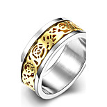 Concise Mixed Color Titanium Steel Flower Figure Eternity Band Wedding Ring Jewellery for Women Accessiories