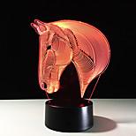 7 color de la lámpara cabeza de caballo 3d luces de noche LED visuales para niños táctil USB Lampara de mesa Lampe bebé luz de noche para