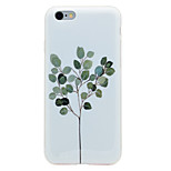 For Tree Pattern Smooth IMD Crafts TPU Material Soft Phone Case for iPhone 7 Plus 7 6s 6 Plus SE 5s 5