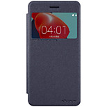 For Nokia 6 with Windows Flip Frosted Case Full Body Case Solid Color Hard PC for Nokia