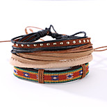 The New Vintage Cowhide Ancient Hand Woven Bracelet Cortical Layers Hand Rope Men's Bracelet Adjustable Size040