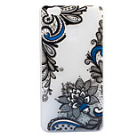 For Huawei P8 Lite (2017) P9 Lite Case Cover Diagonal Flower Pattern Painted Point Drill Scrub TPU Material Luminous Phone Case