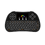 Air Mouse Keyboard Backlit Flying Squirrels I86 2.4GHz Wireless for Android TV Box and PC with Touchpad