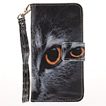 For Apple iPhone 7 7 Plus 6S 6 Plus SE 5S 5 Case Cover Half Face Cat Pattern Painted Card Stent Wallet PU Skin Material Phone Case