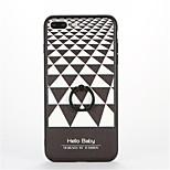 For Ring Holder Embossed Pattern Case Back Cover Case Geometric Pattern Hard PC for Apple iPhone 7 Plus iPhone 7 iPhone 6s Plus iPhone 6