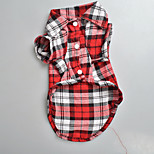 Dog Coat Dog Clothes Cute Plaid/Check Red Green Blue