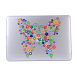 For MacBook Air 11.6 13.3 Pro 13.3 Retina Case Cover with Flower Pattern PC Hard Protective Shell Matte Transparent