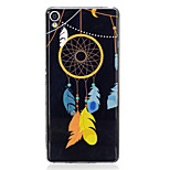 For Sony Xperia XA Case Cover Feather Wind Chimes Pattern Luminous TPU Material IMD Process Soft Case Phone Case